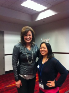 I jumped at the chance of wearing Miss America 1999-Nicole Johnson's crown.